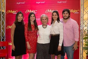 Marifé Castillo Pou, Pachy Castillo Pou, Silvia de Pou, Maria Alejandra Castillo Pou, Juan A. Castillo Pou
